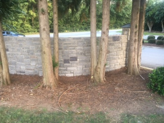 Woodlawn Entrance 2 - Backside Stone - 09-06-2017
