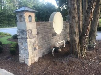 Woodlawn Entrance - Backside Stone - 09-06-2017